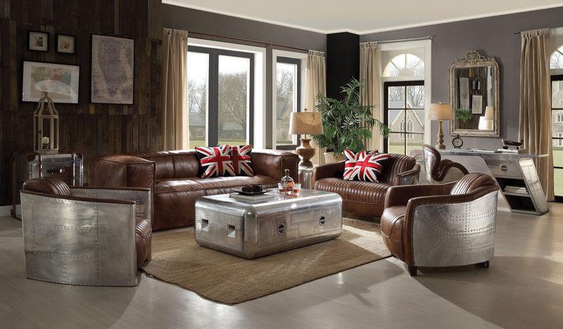Brancaster Leather Living Room Set