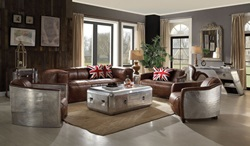 Brancaster Leather Living Room Set