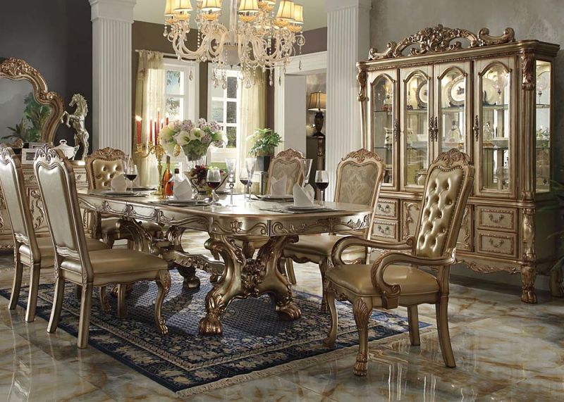 ... Dresden Formal Dining Room Set In Gold