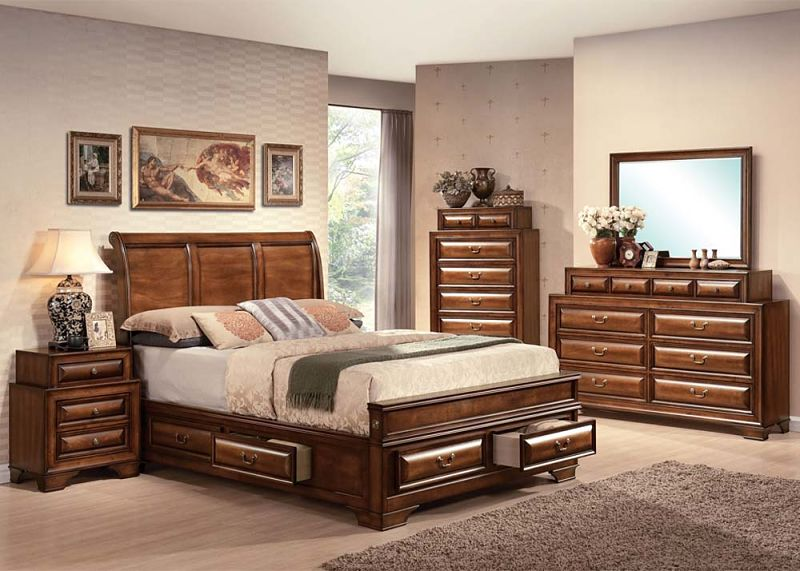 Konane Bedroom Set with Storage Bed