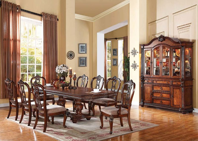 Von Furniture  Gwyneth Formal Dining Room Set with Leg Table