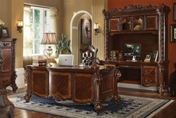 Vendome Computer Desk with Hutch