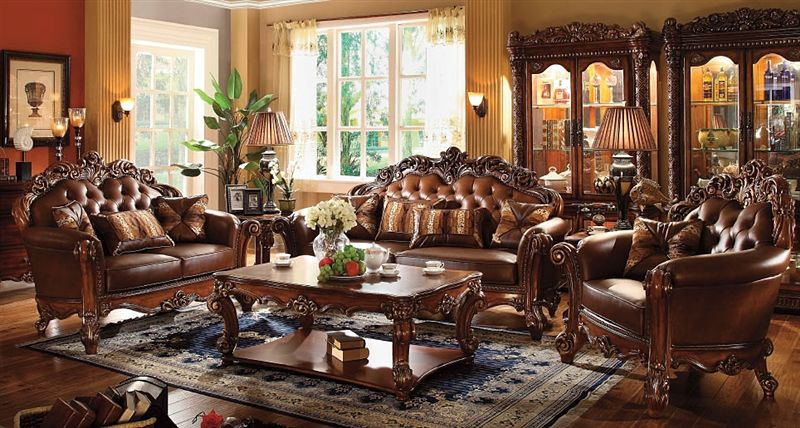 Vendome Formal Living Room Set in Cherry