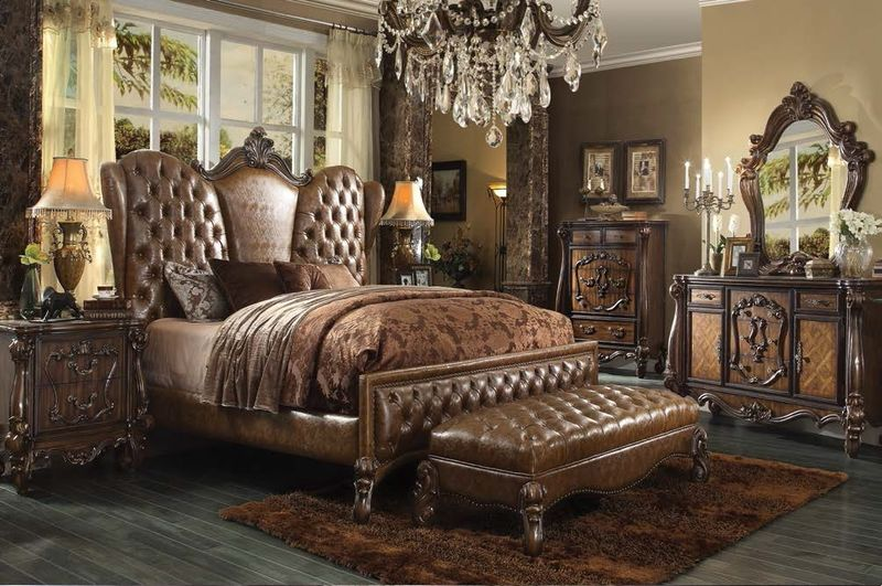 Versailles Bedroom Set in Brown