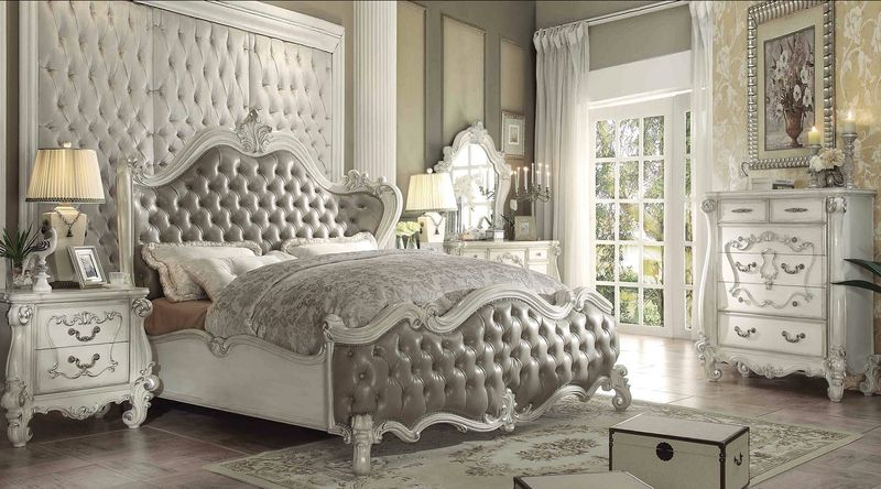 Versailles Bedroom Set in Vintage Gray