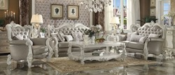 Versailles Formal Living Room Set in Gray