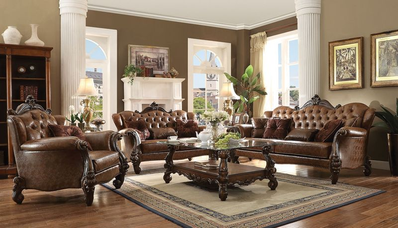 Versailles Formal Living Room in Light Brown