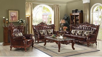 Barletta Formal Leather Living Room Set
