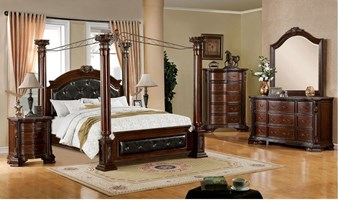 Bergamo Bedroom Set with Canopy Bed