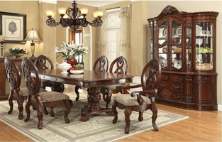 Bristol Formal Dining Room Set with Pedestal Table