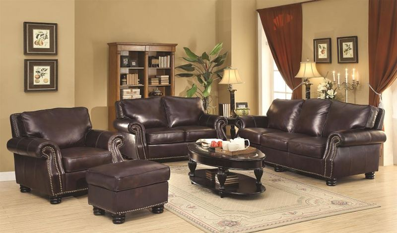 Briscoe Leather Living Room Set