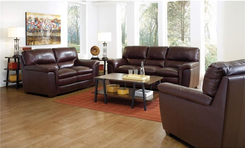 Burton Leather Living Room Set