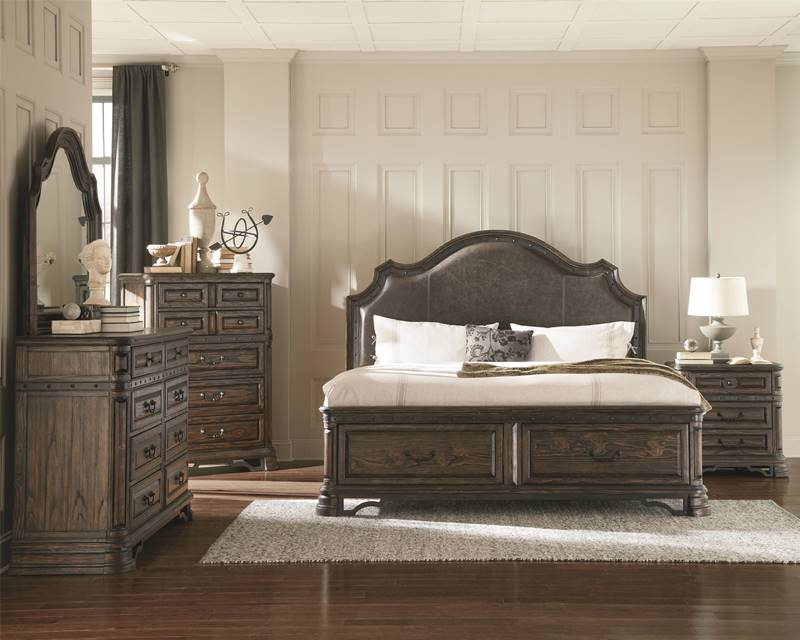Carlsbad Rustic Bedroom Set with Storage Bed