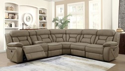 Carmague Reclining Sectional in Tan