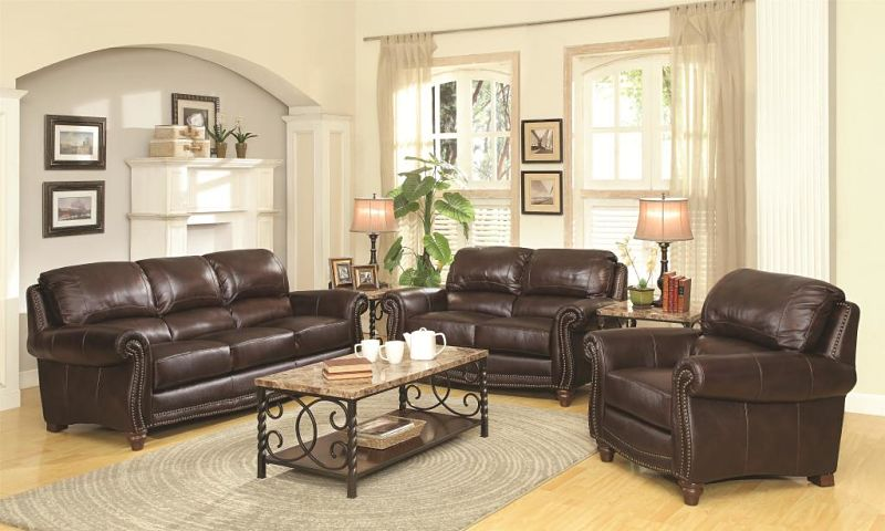 Lockhart Leather Living Room Set