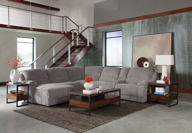 Mackenzie Reclining Living Room Set in Silver