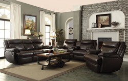 MacPherson Reclining Leather Living Room Set