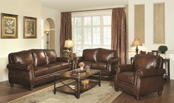 Montbrook Leather Living Room Set