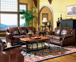 Princeton Leather Living Room Set