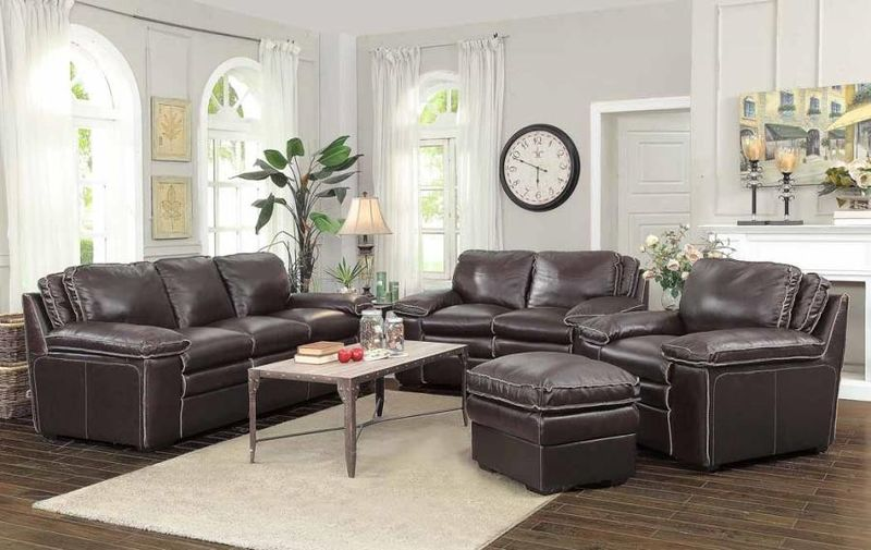 Regalvale Leather Living Room Set in Brown