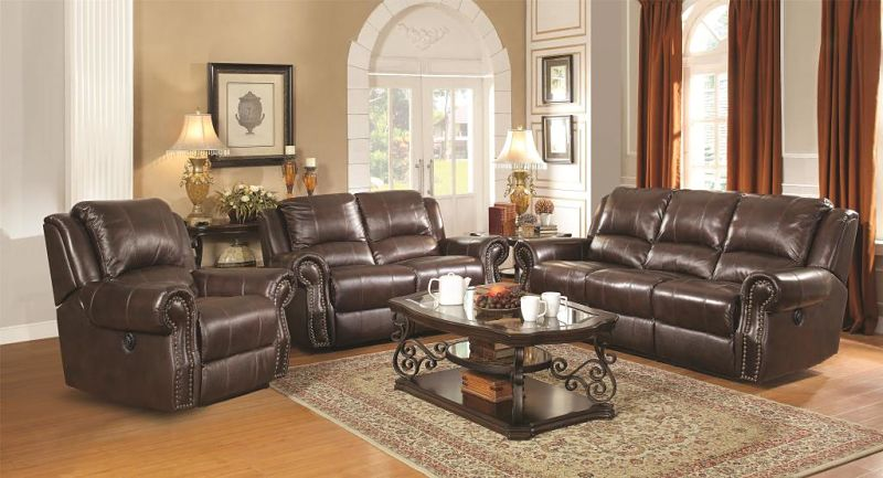... Sir Rawlinson Leather Reclining Living Room Set