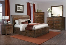 Dawson Creek Bedroom Set with Sleigh Storage Bed
