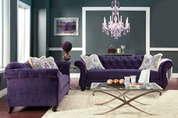 Antoinette Living Room Set in Purple