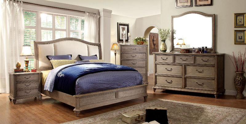 Belgrade II Bedroom Set with Upholstered Headboard