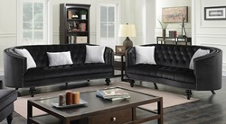 Manuela Living Room Set in Black