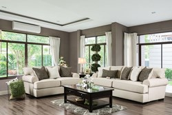 Gilda Living Room Set in Beige