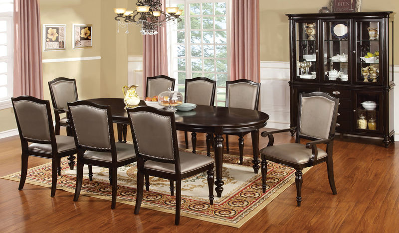 Harrington Formal Dining Room Set with Leatherette Chairs