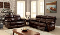 Kinsley Reclining Leather Living Room Set