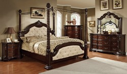 Monte Vista Canopy Bedroom Set in Ivory