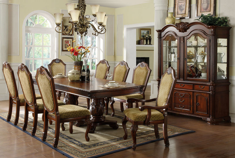 von furniture | vendome large formal dining room set in cherry