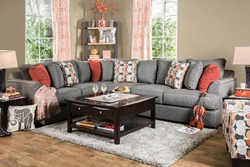 Pennington Sectional Sofa in Gray
