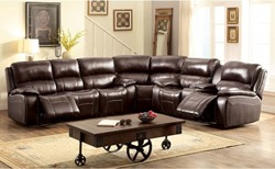 Ruth Reclining Leather Sectional