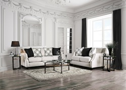 Phoibe Living Room Set in Ivory