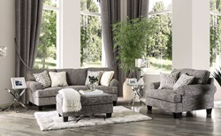 Pierpont Living Room Set in Gray