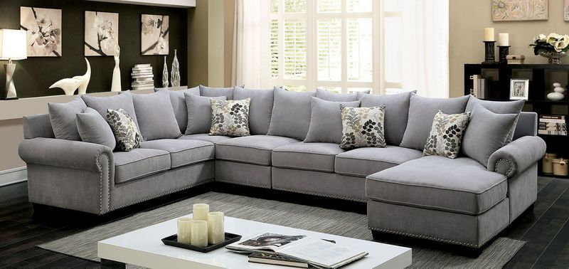 Skyler Sectional Sofa in Gray
