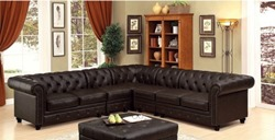 Stanford Sectional Sofa in Brown