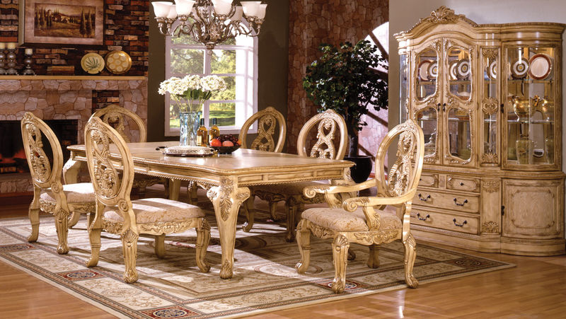 Antique Tuscan Formal Dining Room Tabitha Formal Dining Room Set With Pedestal Table