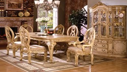 Tuscany Formal Dining Room Set in Antique White