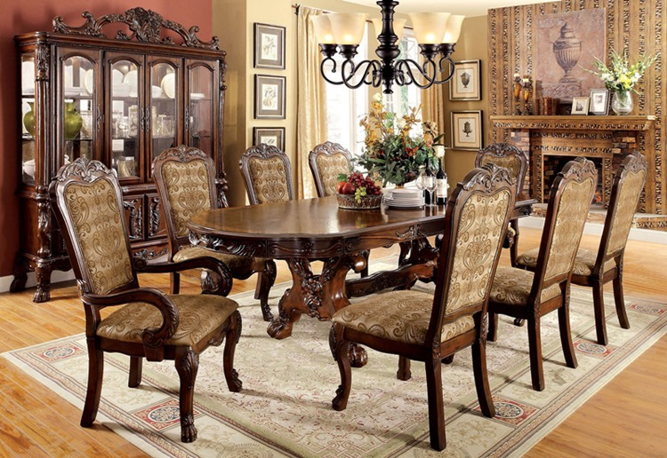 Medieve Formal Dining Room Set in Cherry