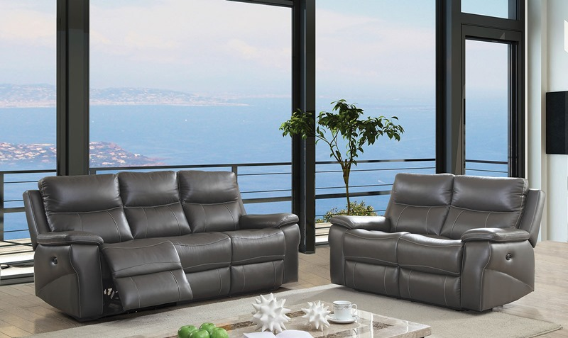 Lila Leather Reclining Living Room Set with Power Motion