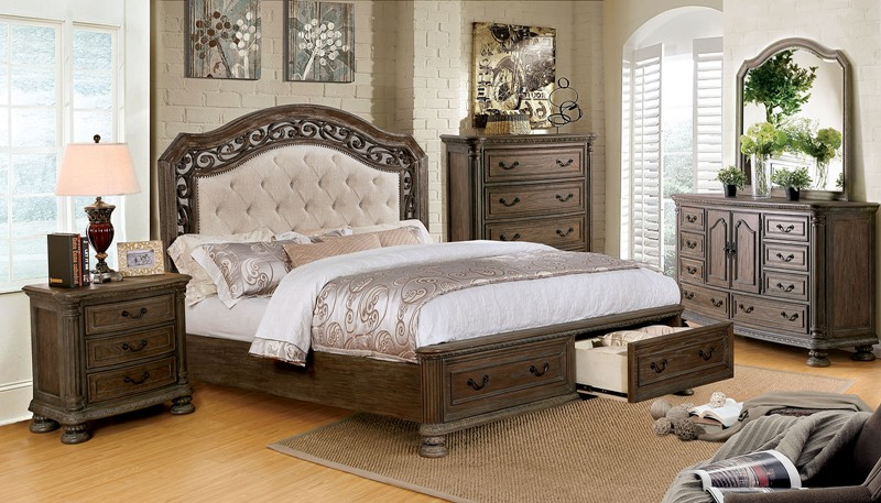 Persephone Bedroom Set with Storage Drawers