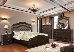 Calliope Bedroom Set with Upholstered Headboard