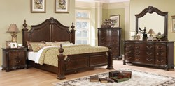 Hesperos Bedroom Set in Brown Cherry