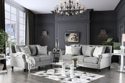 Giovanni Living Room Set in Gray