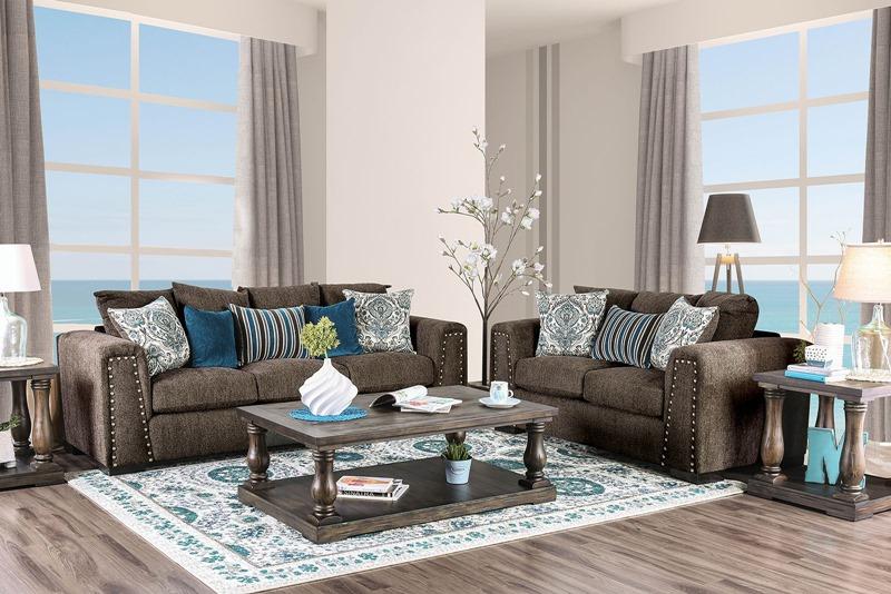 Pauline Living Room Set in Linen