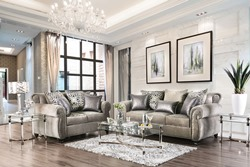 Sinatra Living Room Set in Gray